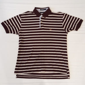 Striped Tommy Hilfiger polo w/ embroidered crest